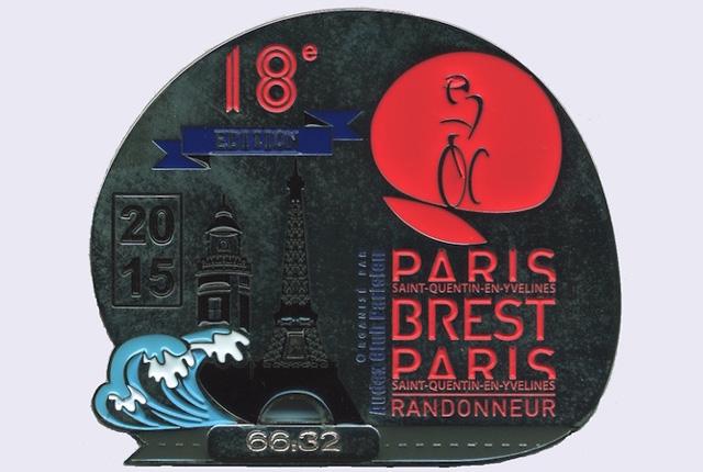 PBP完走メダル2015年