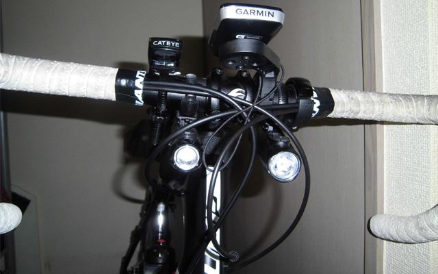 ブルベの装備ヘッドライト