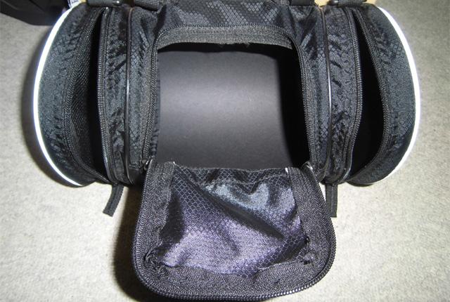 R250ドラム型フロントバッグ開口部